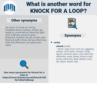 knock for a loop, synonym knock for a loop, another word for knock for a loop, words like knock for a loop, thesaurus knock for a loop