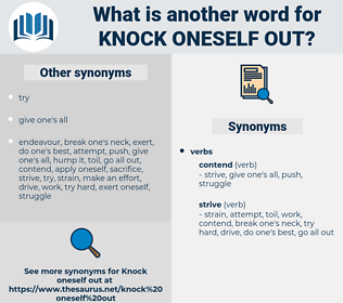 knock oneself out, synonym knock oneself out, another word for knock oneself out, words like knock oneself out, thesaurus knock oneself out