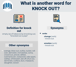 knock out, synonym knock out, another word for knock out, words like knock out, thesaurus knock out