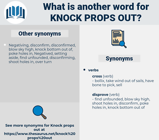 knock props out, synonym knock props out, another word for knock props out, words like knock props out, thesaurus knock props out