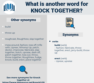 knock together, synonym knock together, another word for knock together, words like knock together, thesaurus knock together