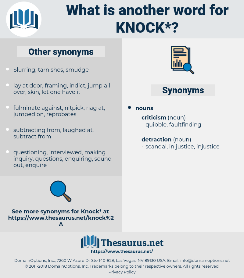knock, synonym knock, another word for knock, words like knock, thesaurus knock