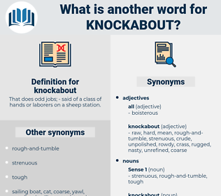 knockabout, synonym knockabout, another word for knockabout, words like knockabout, thesaurus knockabout