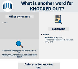 knocked out, synonym knocked out, another word for knocked out, words like knocked out, thesaurus knocked out