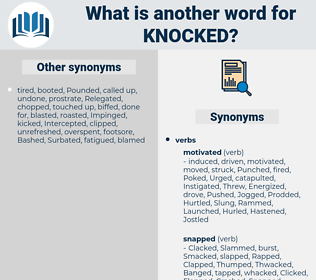 Knocked, synonym Knocked, another word for Knocked, words like Knocked, thesaurus Knocked