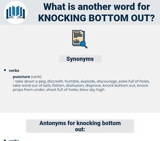 knocking bottom out, synonym knocking bottom out, another word for knocking bottom out, words like knocking bottom out, thesaurus knocking bottom out