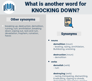knocking down, synonym knocking down, another word for knocking down, words like knocking down, thesaurus knocking down