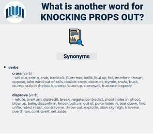 knocking props out, synonym knocking props out, another word for knocking props out, words like knocking props out, thesaurus knocking props out
