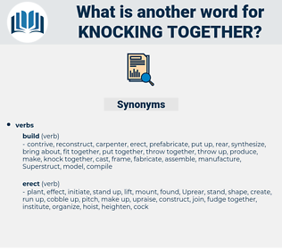 knocking together, synonym knocking together, another word for knocking together, words like knocking together, thesaurus knocking together