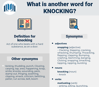 knocking, synonym knocking, another word for knocking, words like knocking, thesaurus knocking