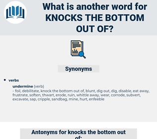 knocks the bottom out of, synonym knocks the bottom out of, another word for knocks the bottom out of, words like knocks the bottom out of, thesaurus knocks the bottom out of