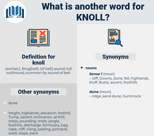 knoll, synonym knoll, another word for knoll, words like knoll, thesaurus knoll
