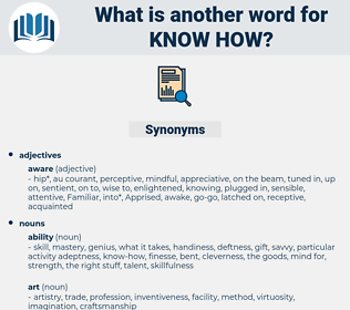 know-how, synonym know-how, another word for know-how, words like know-how, thesaurus know-how