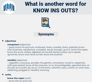 know ins outs, synonym know ins outs, another word for know ins outs, words like know ins outs, thesaurus know ins outs