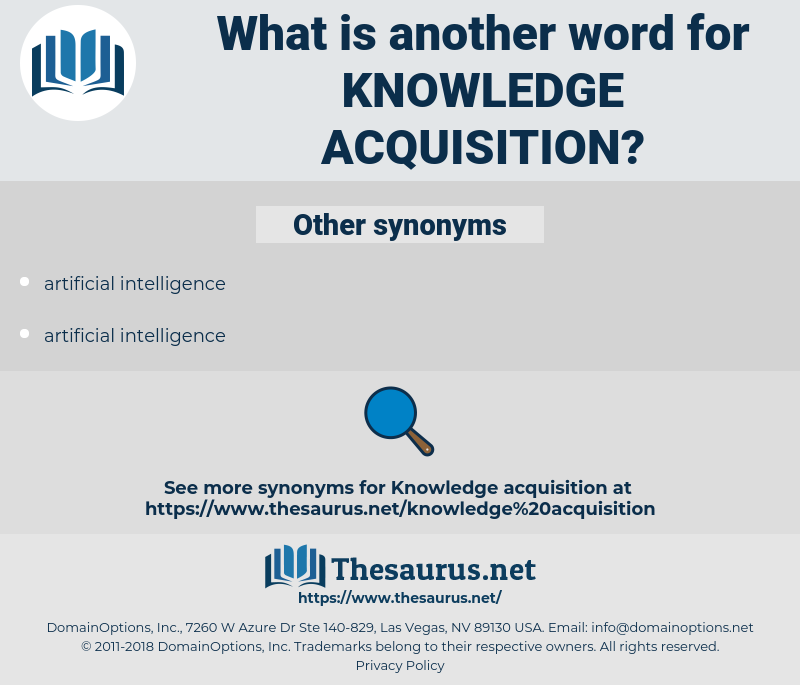 knowledge acquisition, synonym knowledge acquisition, another word for knowledge acquisition, words like knowledge acquisition, thesaurus knowledge acquisition