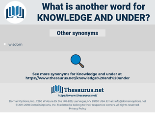 Knowledge and under, synonym Knowledge and under, another word for Knowledge and under, words like Knowledge and under, thesaurus Knowledge and under