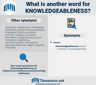 knowledgeableness, synonym knowledgeableness, another word for knowledgeableness, words like knowledgeableness, thesaurus knowledgeableness
