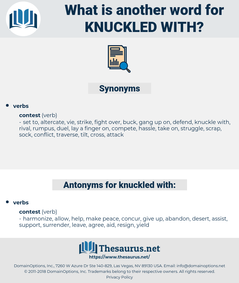 knuckled with, synonym knuckled with, another word for knuckled with, words like knuckled with, thesaurus knuckled with