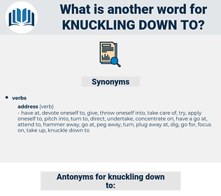knuckling down to, synonym knuckling down to, another word for knuckling down to, words like knuckling down to, thesaurus knuckling down to