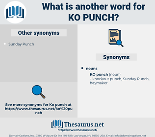 Ko Punch, synonym Ko Punch, another word for Ko Punch, words like Ko Punch, thesaurus Ko Punch