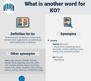 ko, synonym ko, another word for ko, words like ko, thesaurus ko