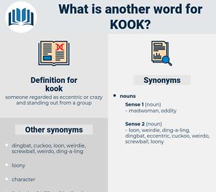 kook, synonym kook, another word for kook, words like kook, thesaurus kook