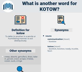 kotow, synonym kotow, another word for kotow, words like kotow, thesaurus kotow