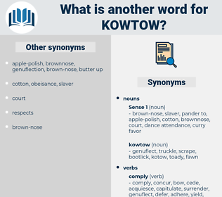 kowtow, synonym kowtow, another word for kowtow, words like kowtow, thesaurus kowtow