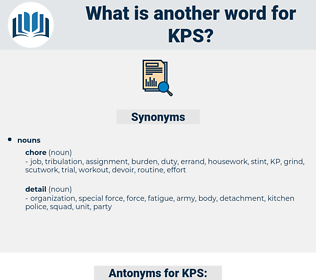 KPS, synonym KPS, another word for KPS, words like KPS, thesaurus KPS