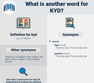 kyd, synonym kyd, another word for kyd, words like kyd, thesaurus kyd