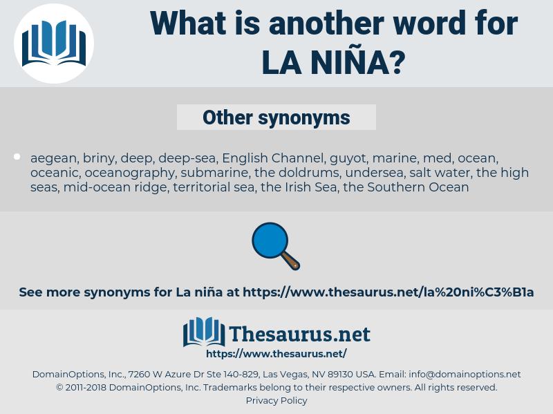 la Niña, synonym la Niña, another word for la Niña, words like la Niña, thesaurus la Niña
