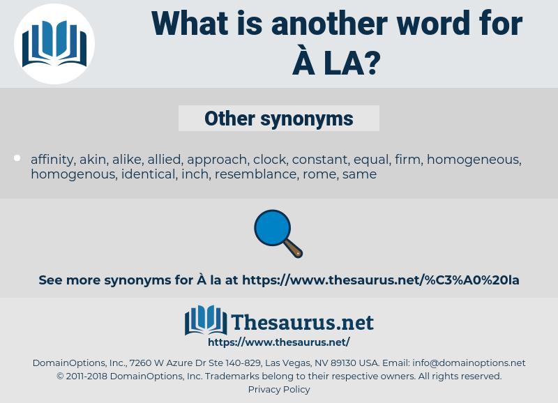 la, synonym la, another word for la, words like la, thesaurus la