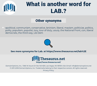 lab, synonym lab, another word for lab, words like lab, thesaurus lab
