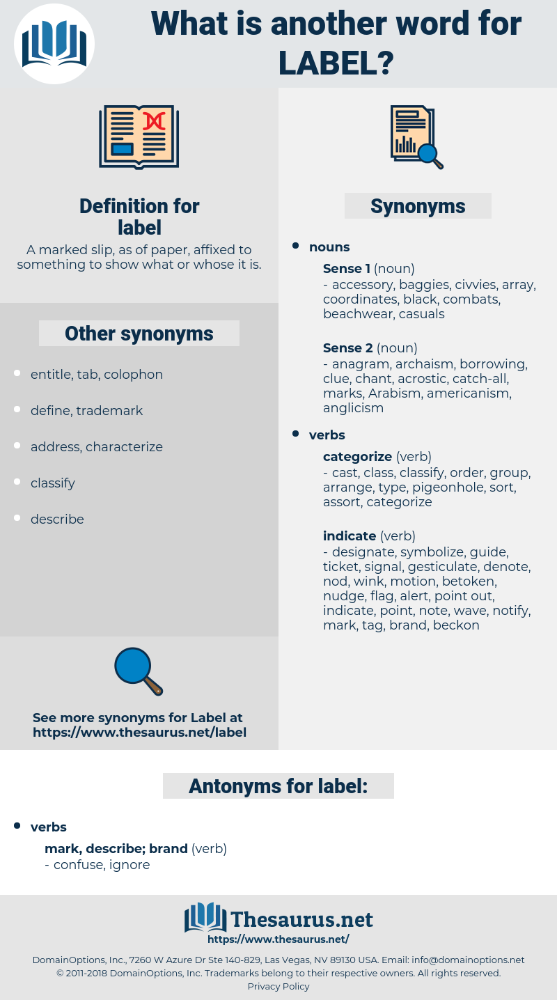 label, synonym label, another word for label, words like label, thesaurus label