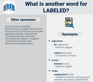 labeled, synonym labeled, another word for labeled, words like labeled, thesaurus labeled