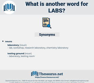 LABS, synonym LABS, another word for LABS, words like LABS, thesaurus LABS