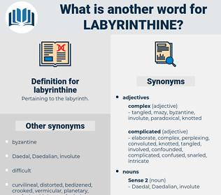 labyrinthine, synonym labyrinthine, another word for labyrinthine, words like labyrinthine, thesaurus labyrinthine