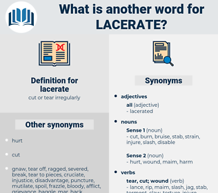 lacerate, synonym lacerate, another word for lacerate, words like lacerate, thesaurus lacerate