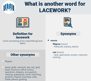 lacework, synonym lacework, another word for lacework, words like lacework, thesaurus lacework