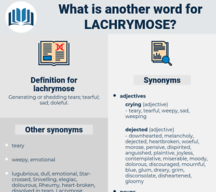lachrymose, synonym lachrymose, another word for lachrymose, words like lachrymose, thesaurus lachrymose