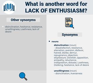 lack of enthusiasm, synonym lack of enthusiasm, another word for lack of enthusiasm, words like lack of enthusiasm, thesaurus lack of enthusiasm