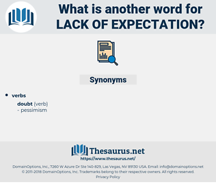 lack of expectation, synonym lack of expectation, another word for lack of expectation, words like lack of expectation, thesaurus lack of expectation
