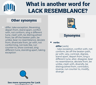 lack resemblance, synonym lack resemblance, another word for lack resemblance, words like lack resemblance, thesaurus lack resemblance
