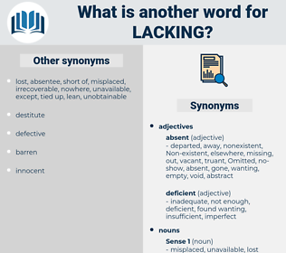 lacking, synonym lacking, another word for lacking, words like lacking, thesaurus lacking