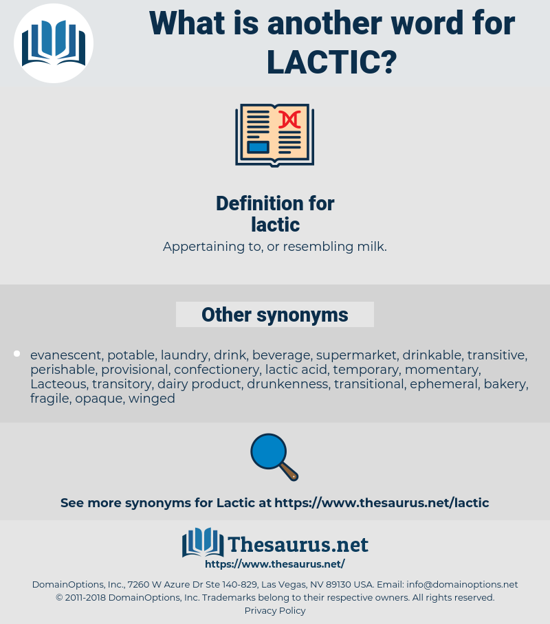 lactic, synonym lactic, another word for lactic, words like lactic, thesaurus lactic