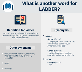 ladder, synonym ladder, another word for ladder, words like ladder, thesaurus ladder