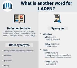 laden, synonym laden, another word for laden, words like laden, thesaurus laden