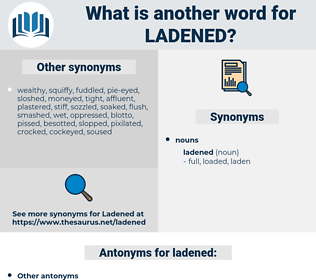 ladened, synonym ladened, another word for ladened, words like ladened, thesaurus ladened