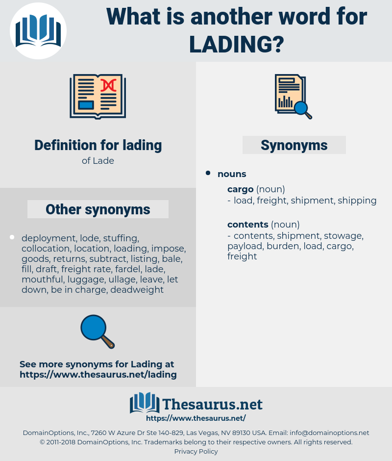 lading, synonym lading, another word for lading, words like lading, thesaurus lading