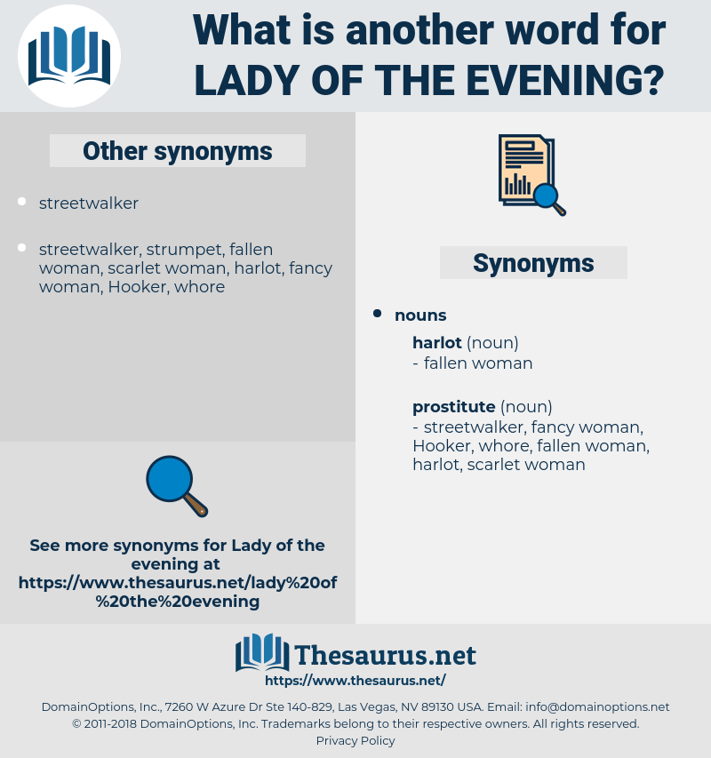 lady of the evening, synonym lady of the evening, another word for lady of the evening, words like lady of the evening, thesaurus lady of the evening